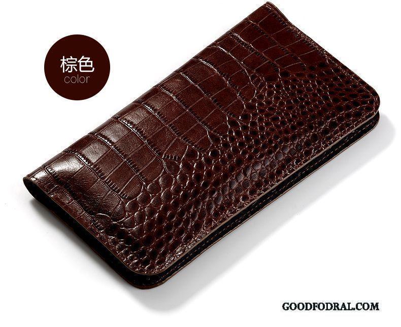 Skal Till Lg G4 Äkta Läder Universell Väska Plånbok