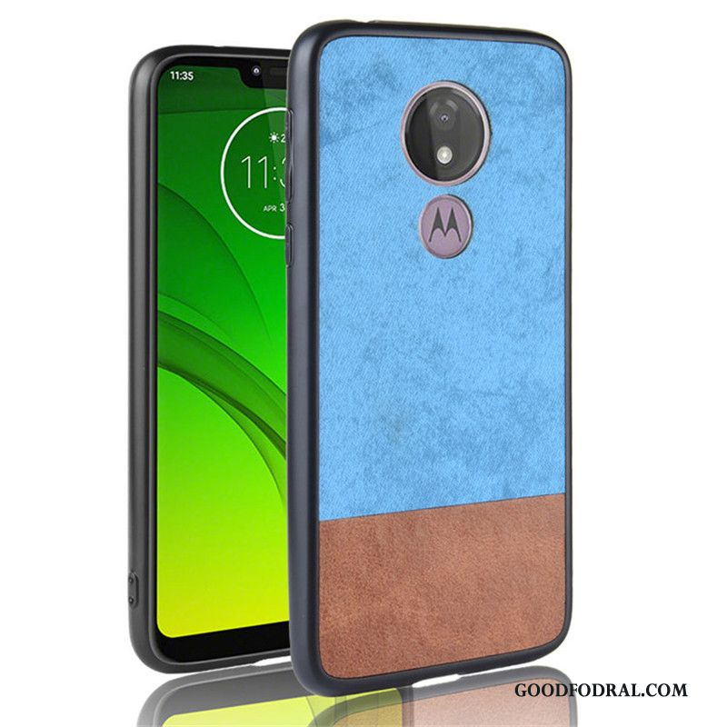 Skal Till Moto G7 Power Skydd Fodral Denim Blå All Inclusive