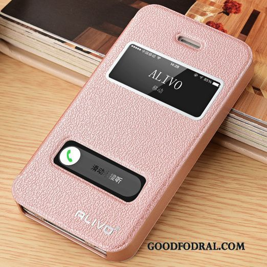 Skal Till Iphone 5 5s Skydd Fallskydd Läderfodral Rosa Clamshell Billigt bfd423b09d399
